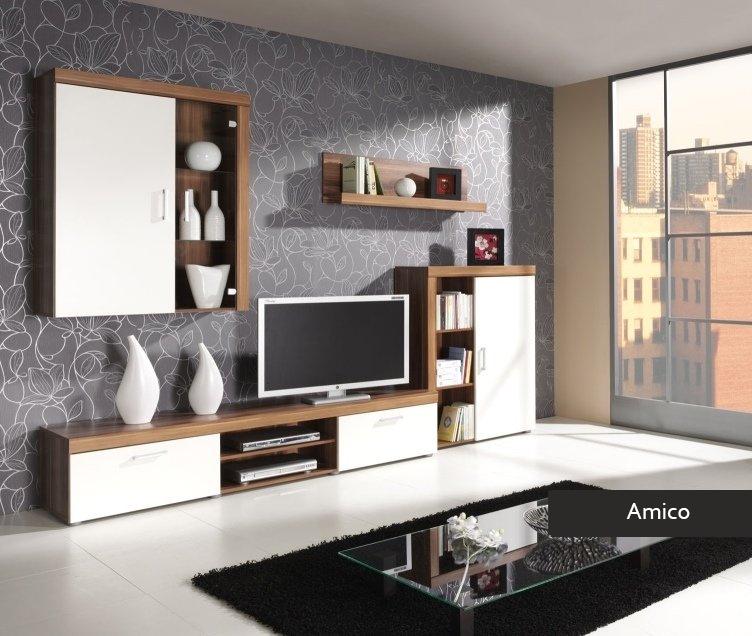 Composizione soggiorno Amico mobile parete porta tv in 4 colori