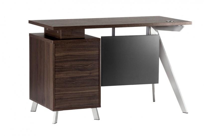 Avere una buona scrivania comoda e confortevole diventa quindi davvero importante per poter lavorare al meglio. Scrivania Ufficio Moderna 120x60 Legno Noce Con Cassettiera Arrediorg