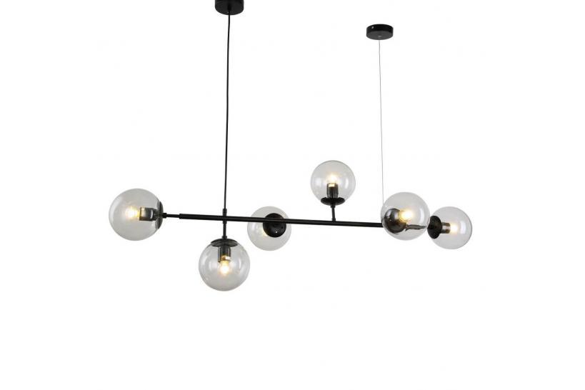Per accogliere i tuoi invitati come si deve, sorprendi questo lampadario sin dall'ingresso! Lampadario A Sospensione Di Design Moderna Con 6 Sfera In Vetro Ceredo