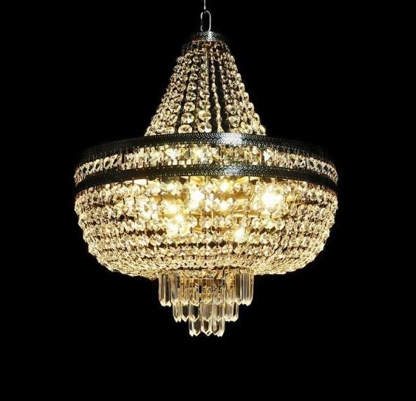 Lampadario di cristallo rotondo in stile classico economico e robusto