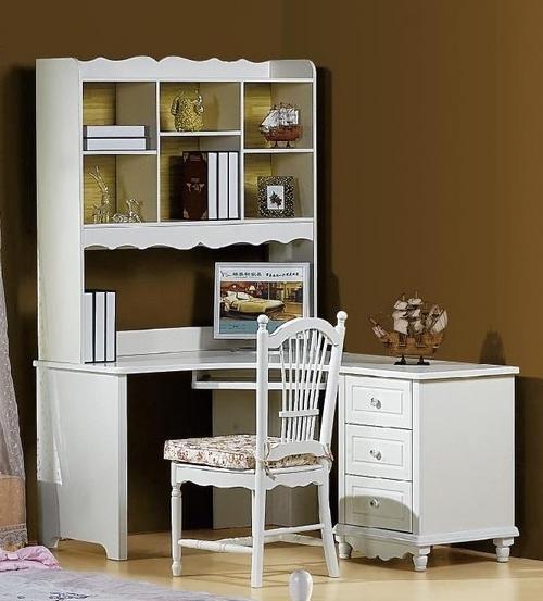 Scrivania con libreria Princess 813 colore Bianco