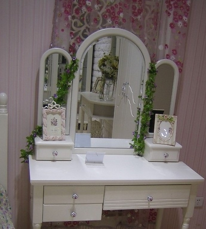 Toletta con specchio Princess 808 colore Bianco