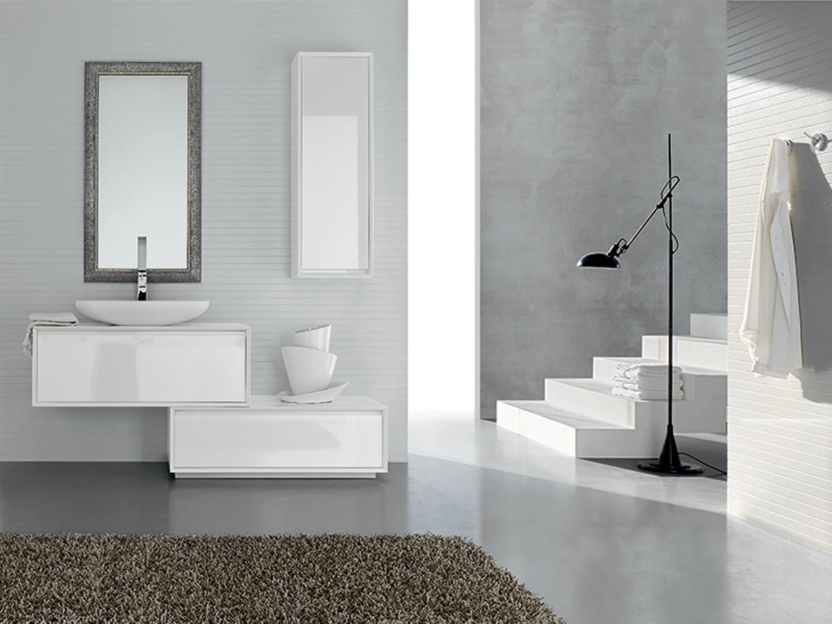 Mobili bagno bianco specchiera  Mobili Bagno  Arredamento Mobili ArredissimA