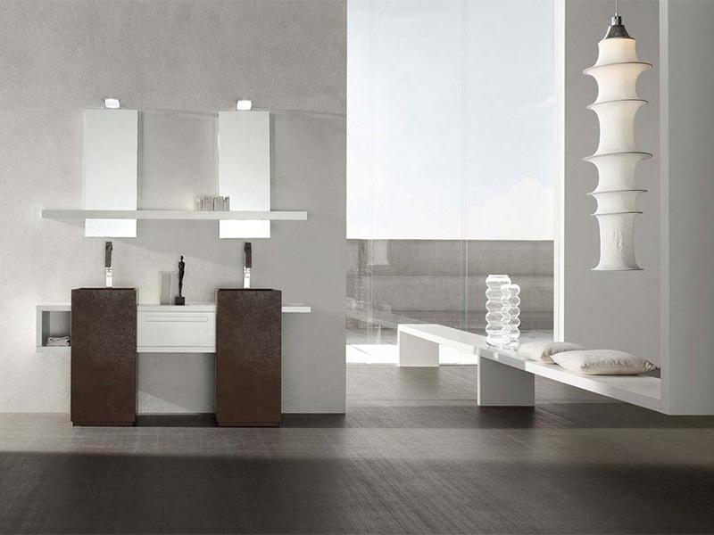 Bagno moderno con doppio lavello Arredo Bagno  Arredamento Mobili ArredissimA