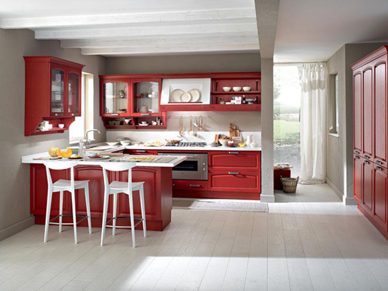 Cucina penisola rossa  Arredamento Mobili ArredissimA