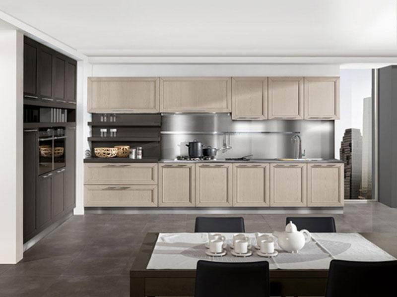 Cucina lineare moderna in frassino miele  Arredamento