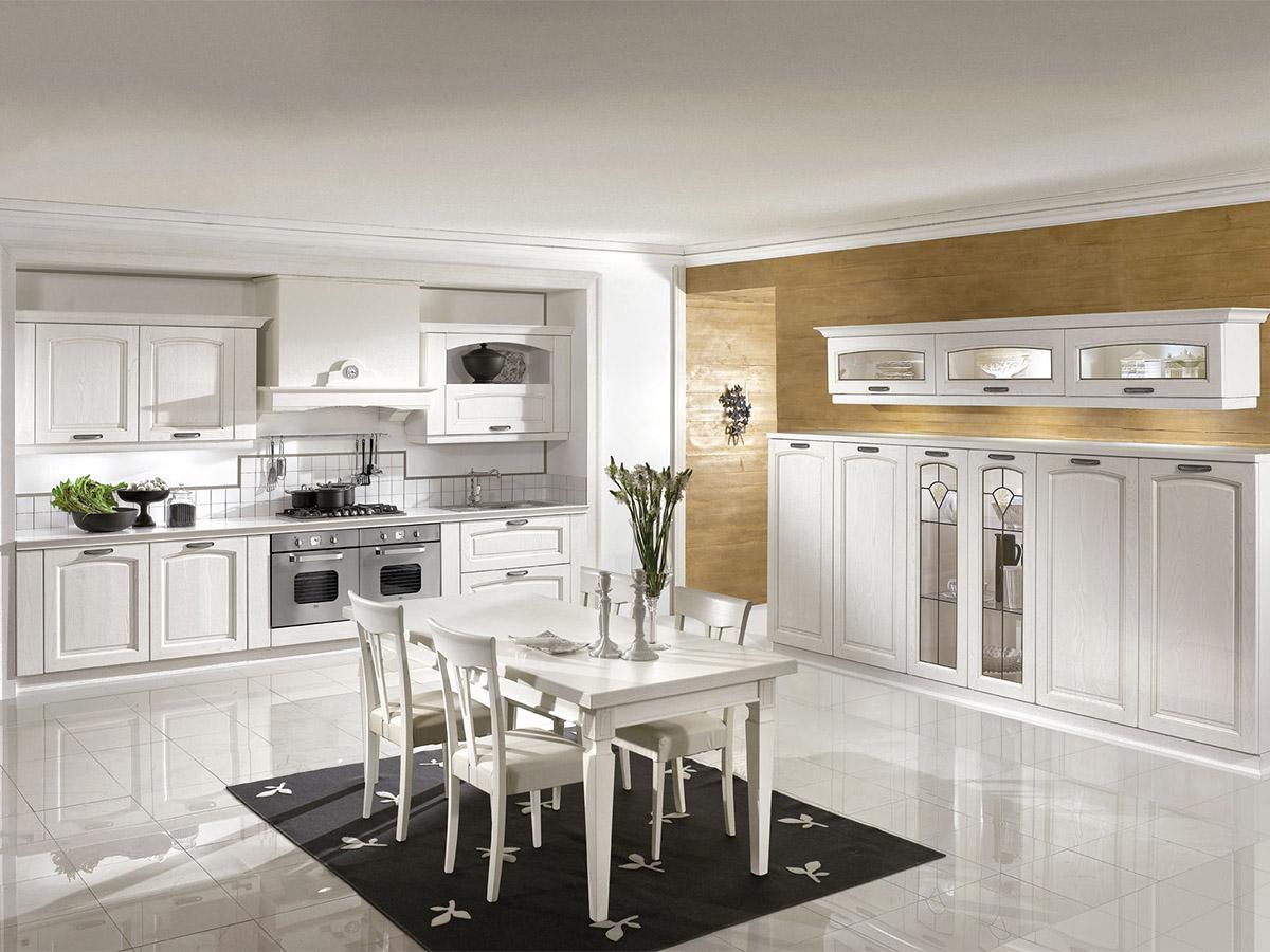Cucina Classica Cucina in Rovere Bianco  Arredissima