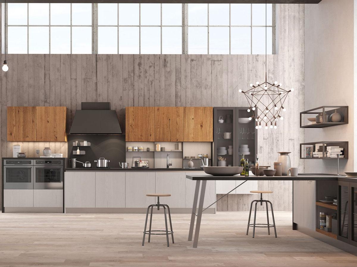 Cucina lineare con penisola  Arredamento Mobili  Arredamento Mobili ArredissimA