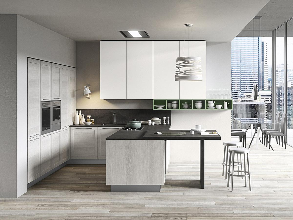 Cucina bianca con anta telaio  Arredamento Mobili ArredissimA
