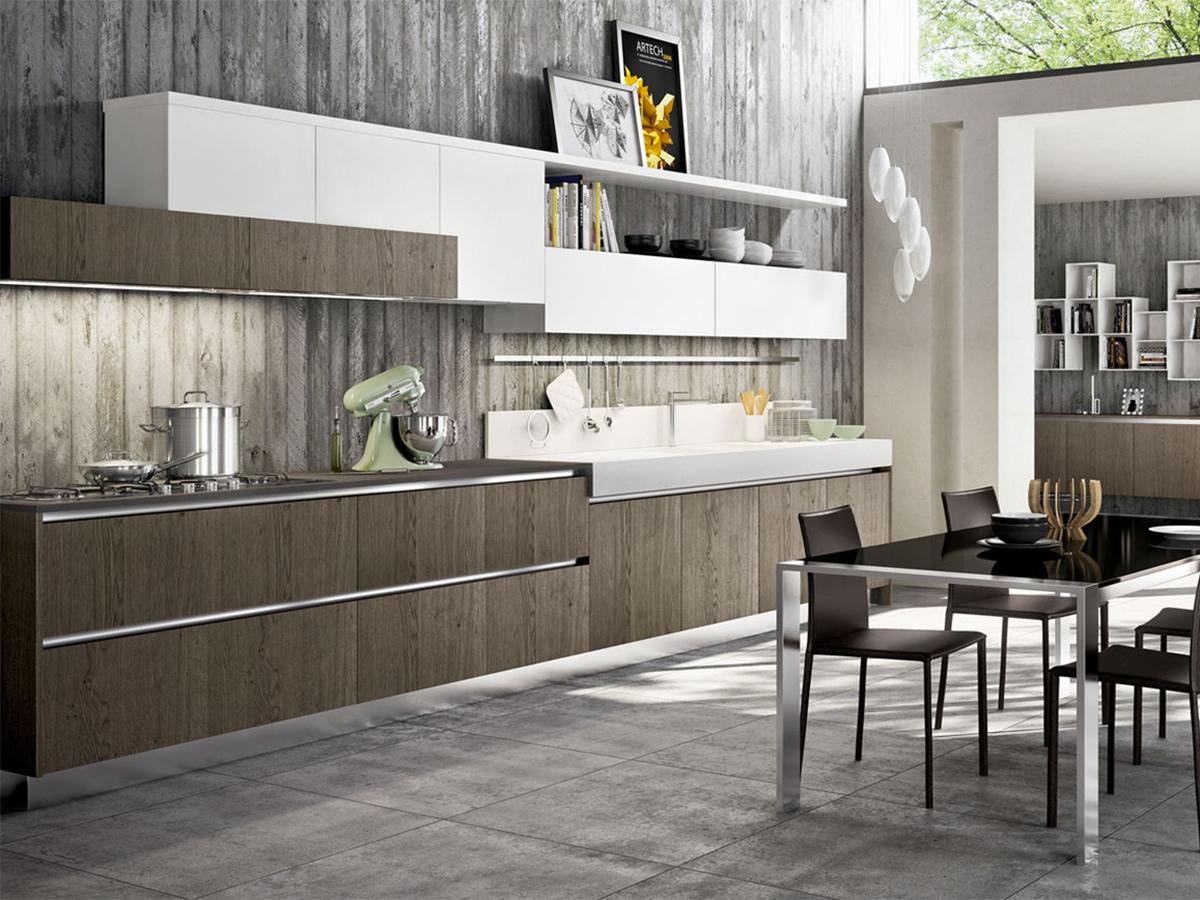 Cucina lineare design moderno  Arredamento Mobili ArredissimA