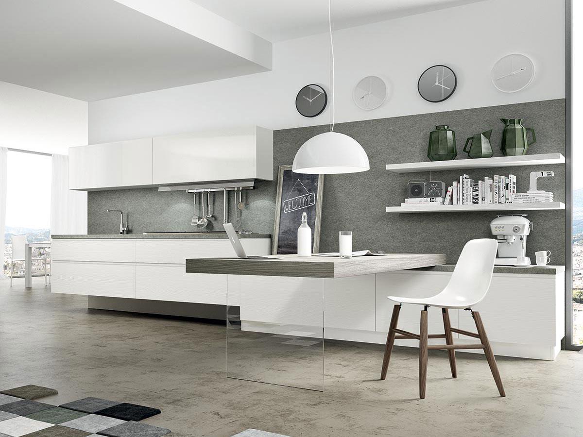 Cucina bianca moderna Arredamento Mobili Arredamento