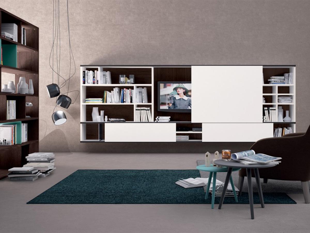 Soggiorno completo con libreria divisoria  Arredamento Mobili  Arredamento Mobili ArredissimA