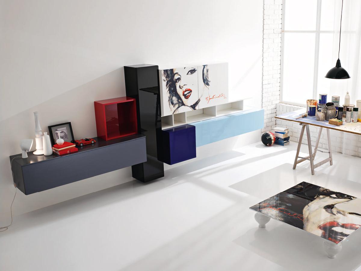 Soggiorno moderno con decorazione  Arredamento Mobili  Arredamento Mobili ArredissimA