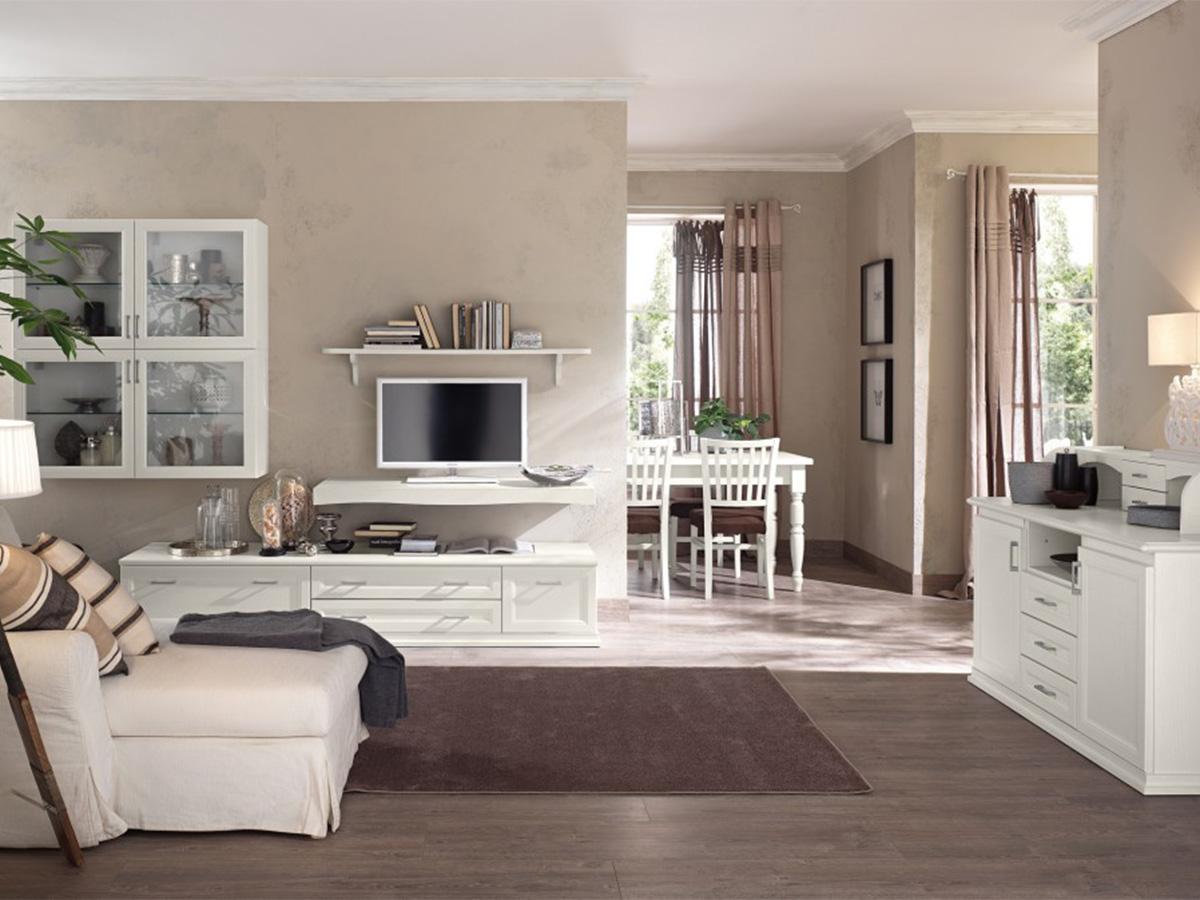 soggiorno classico bianco vintage  Arredamento Mobili ArredissimA