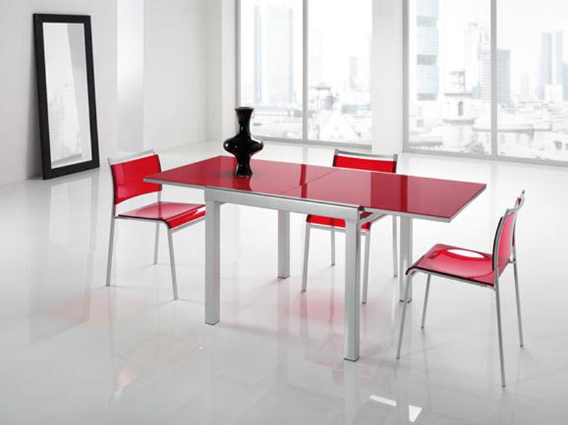 Tavolo moderno rosso allungabile  Arredamento Mobili