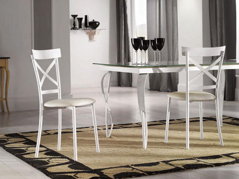 Tavolo allungabile moderno con piano in vetro  Arredo