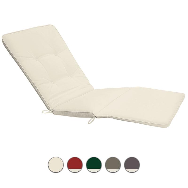 Cuscino per lettino prendisole 200x63 cm con bordino