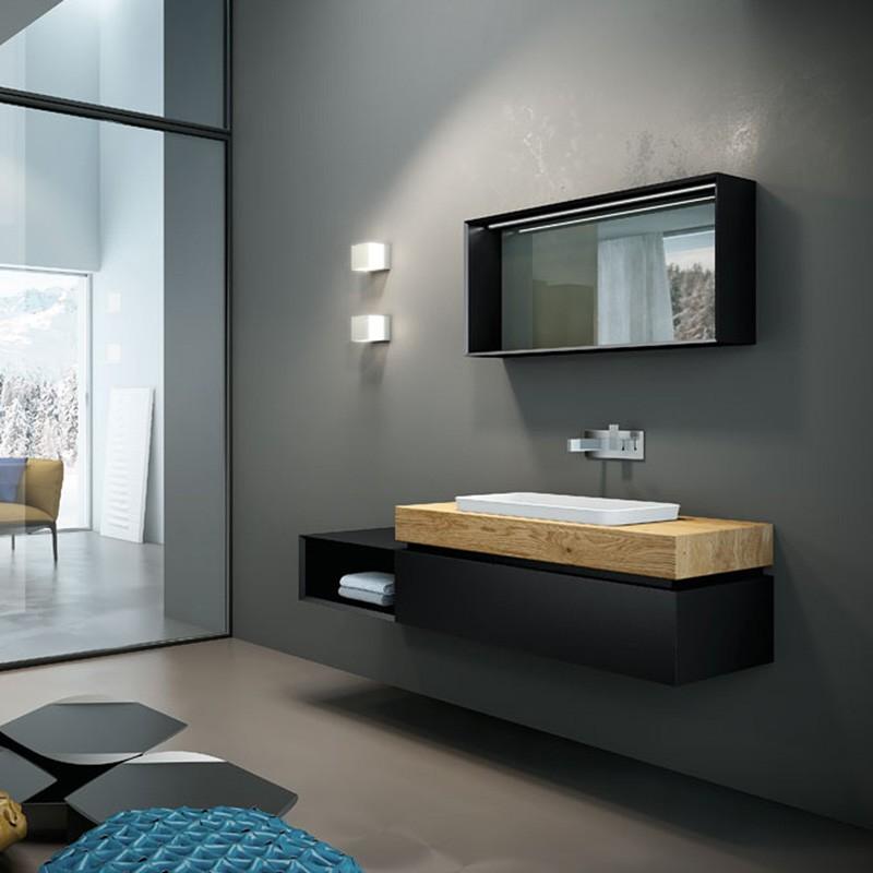 Very Wood05 145  Mobili bagno sospesi  Mobili  Specchi