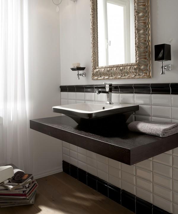 Lavabo bagno retr sospesoappoggio biancoplatino cm 50