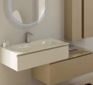 Vetro il nobile materiale per larredo bagno moderno