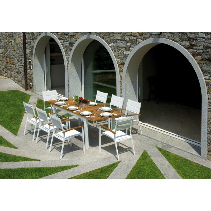 Set tavolo e sedie da giardino Ajaccio e Bastia di Greenwood in offerta