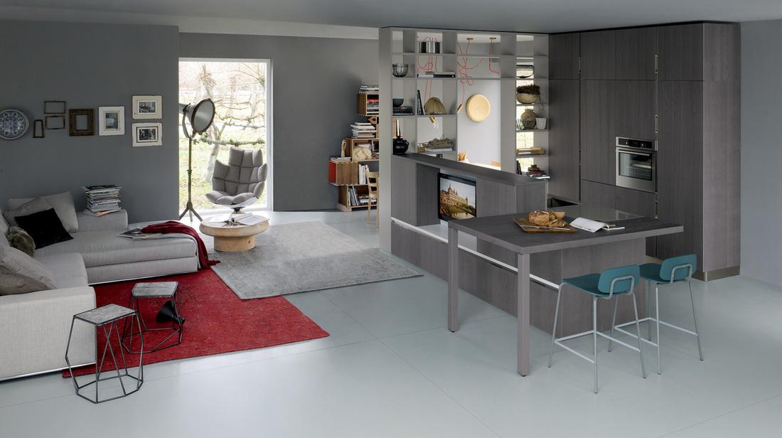 Cucina salotto open space, tutte le idee e foto per arredare ed. Soggiorno E Cucina In Un Unico Ambiente Arredamento Cucine Milano Showroom Cucine Milano