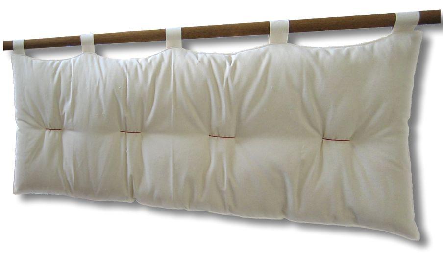 Testiera letto a cuscino Bali Basic con kit ancoraggio