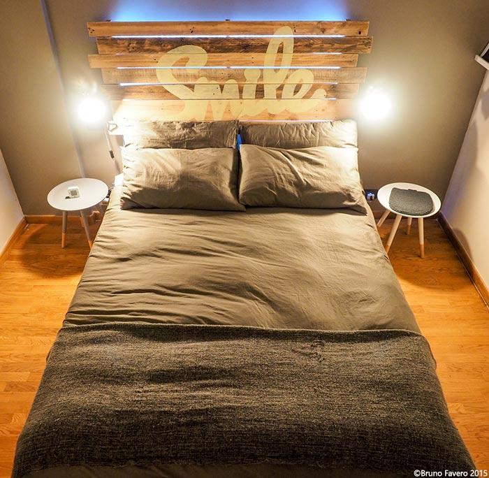 Camere da letto in pallet riciclo