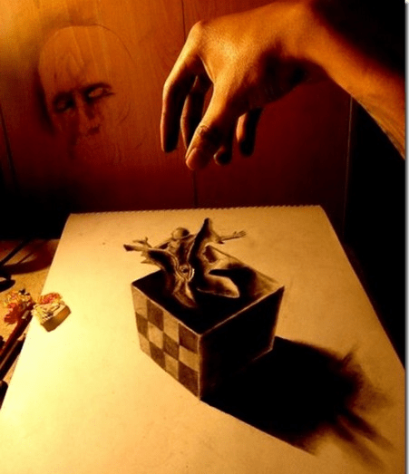 Inacreditáveis desenhos em 3D feitos com lápis