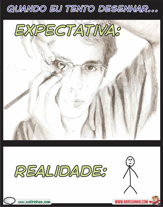 Expectativa x Realidade: Quando eu Tento Desenhar