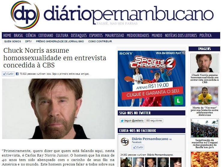Não, Chuck Norris NÃO é Gay