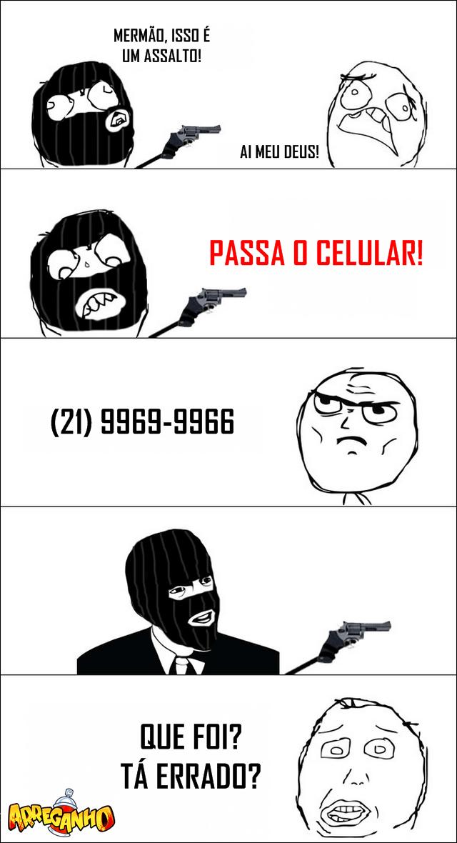 Testando a paciência do assaltante