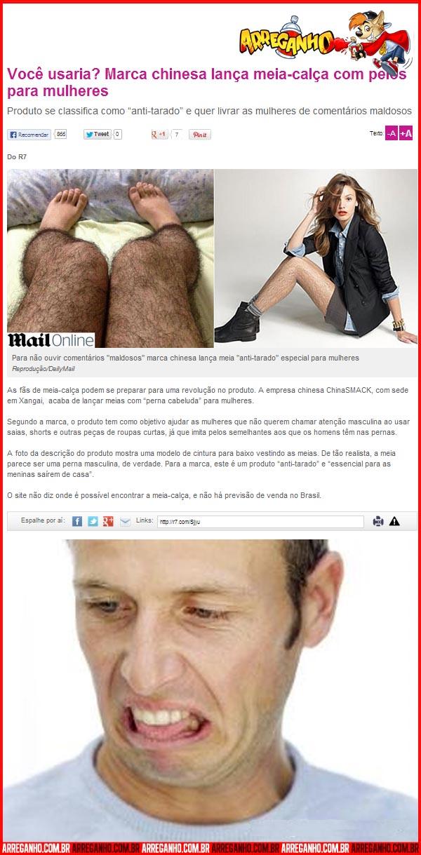 Marca chinesa lança meia-calça com pelos para mulheres