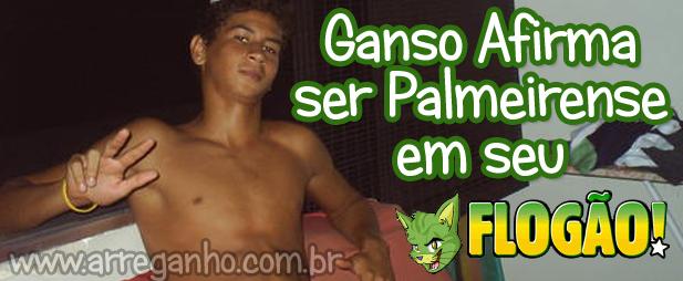 """Ganso Afirma ser Palmeirense em seu """"Flogão"""""""