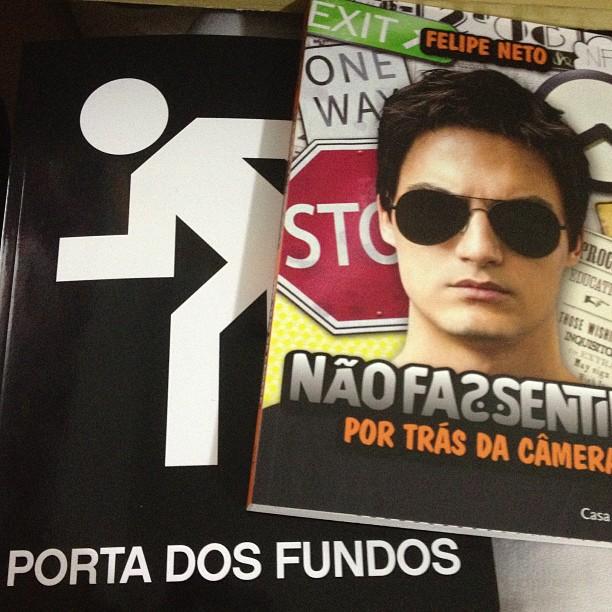 Livro Felipe Neto e Porta dos Fundos