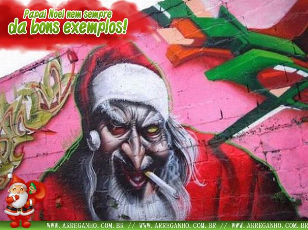 Papai Noel nem sempre dá bons exemplos!