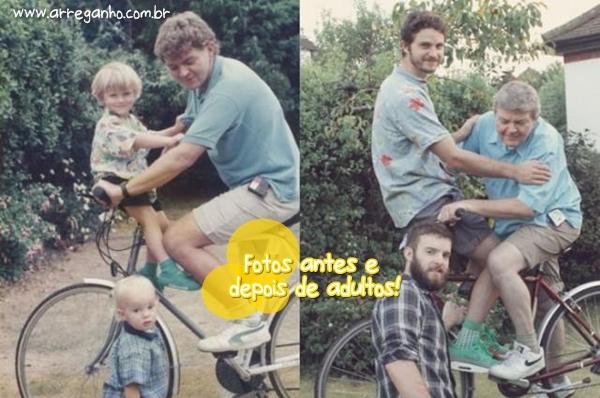 Fotos antes e depois de adultos!
