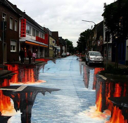 Incríveis pinturas em 3D