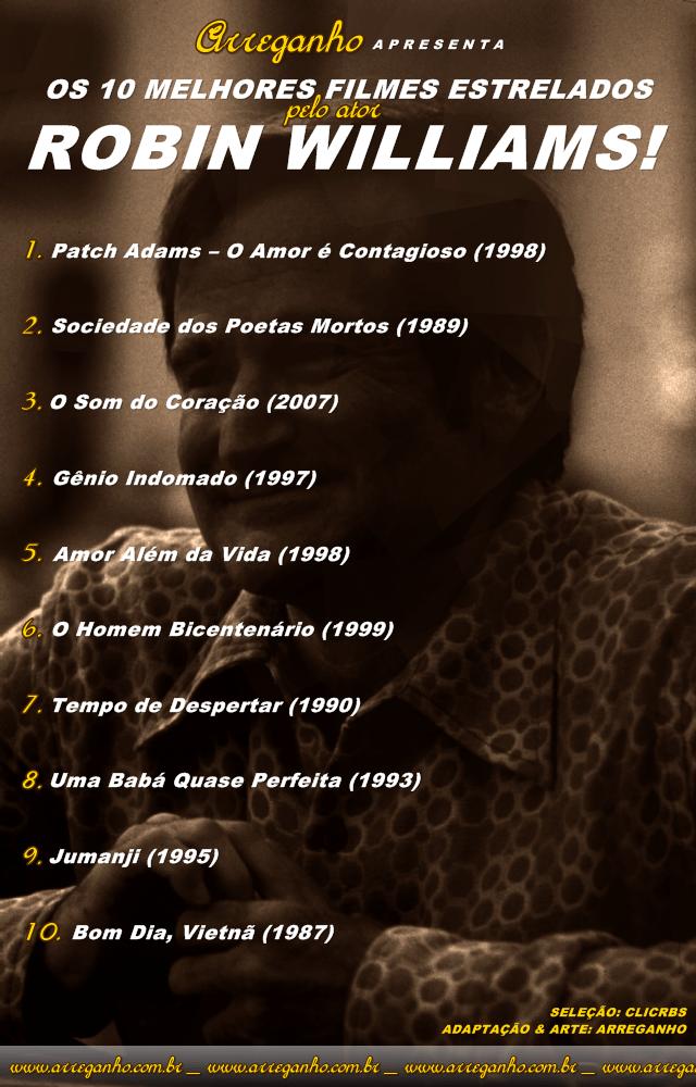 Os 10 melhores filmes estrelados por Robin Williams!