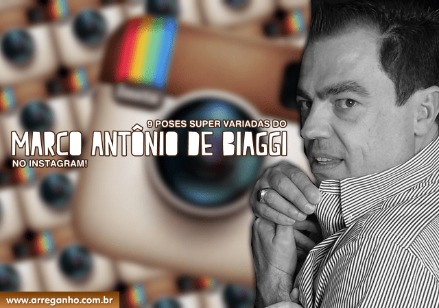 9 Poses super variadas do Marco Antônio de Biaggi no Instagram