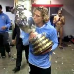 Comemoração do Uruguai, Loco Abreu de Cueca e Jogador PELADO