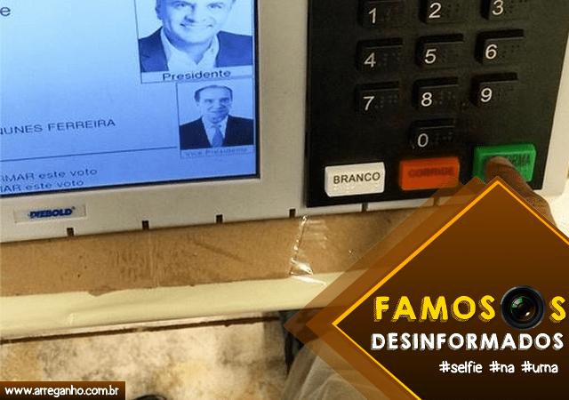 5 Famosos desinformados que tiraram selfie na urna!