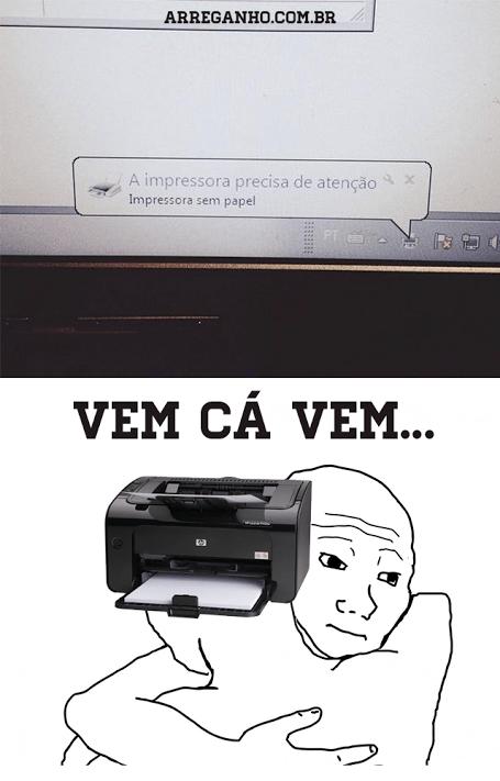 A impressora precisa de atenção