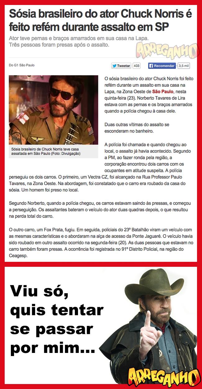 Sósia brasileiro do ator Chuck Norris é feito refém durante assalto em SP