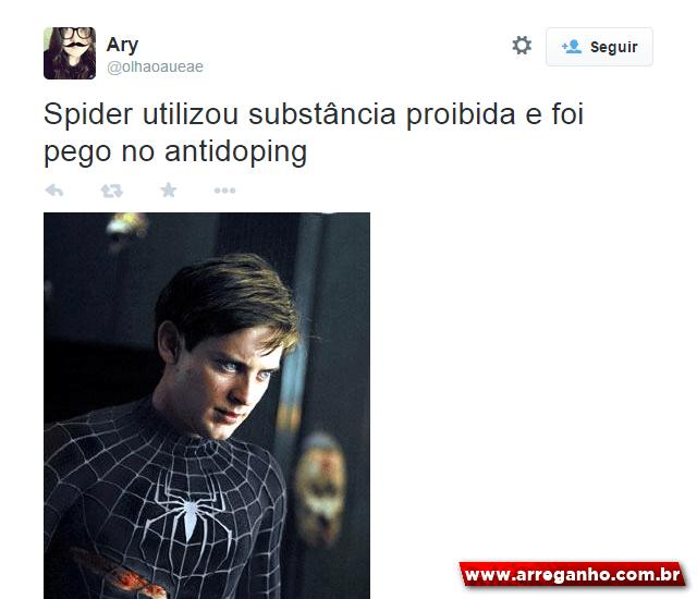 Os 10 melhores comentários sobre o resultado do antidoping do Spider