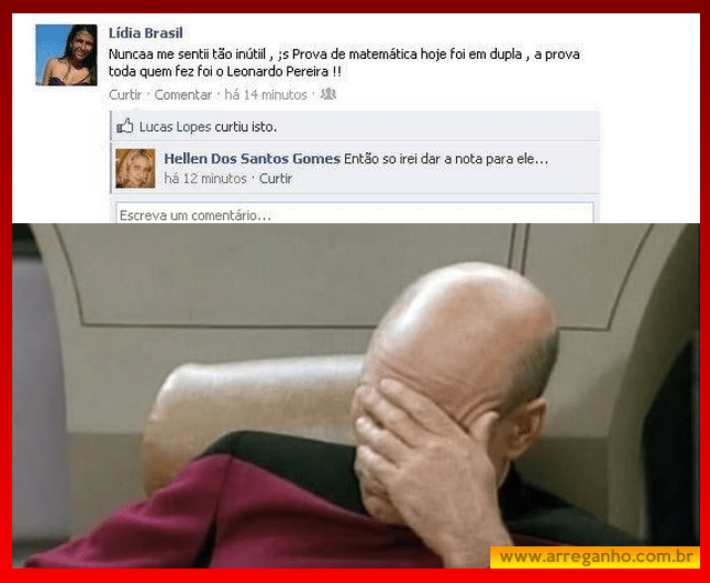 Isso que dá ter professora no facebook