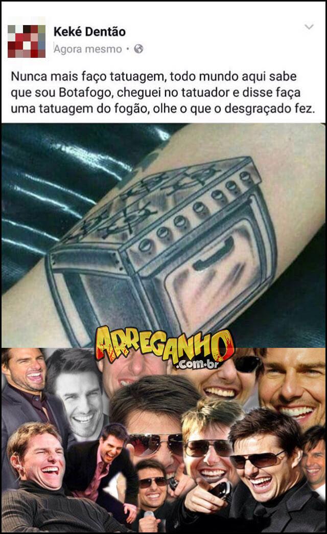tatuagem do botafogo