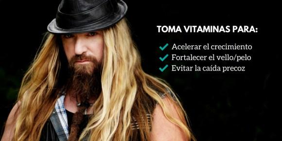 vitaminas para la barba