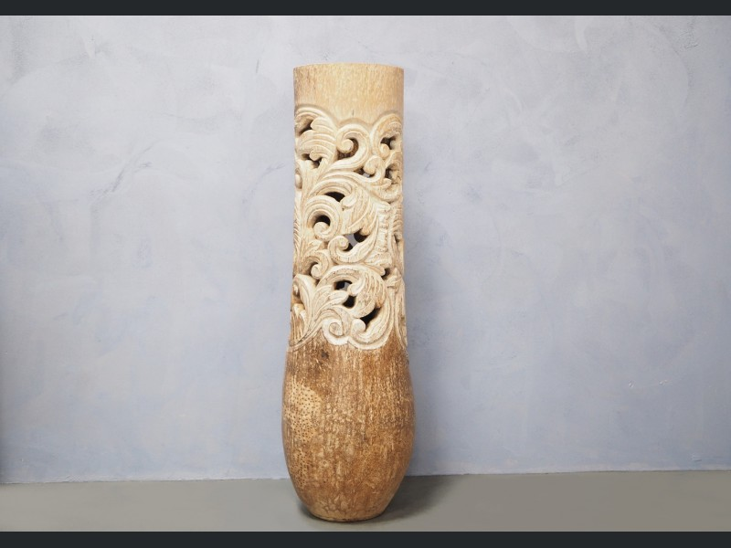 Palm Tree Wood Carving