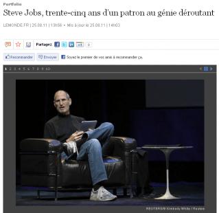 Steve Jobs - LeMonde.fr - 25/08/11